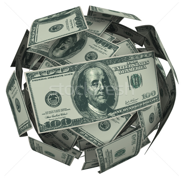 Hunded Dollar Bill Money Ball Cash Currency Stock photo © iqoncept