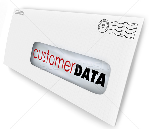 Customer Data Direct Mail Campaign Marketing Advertising Message Stock photo © iqoncept
