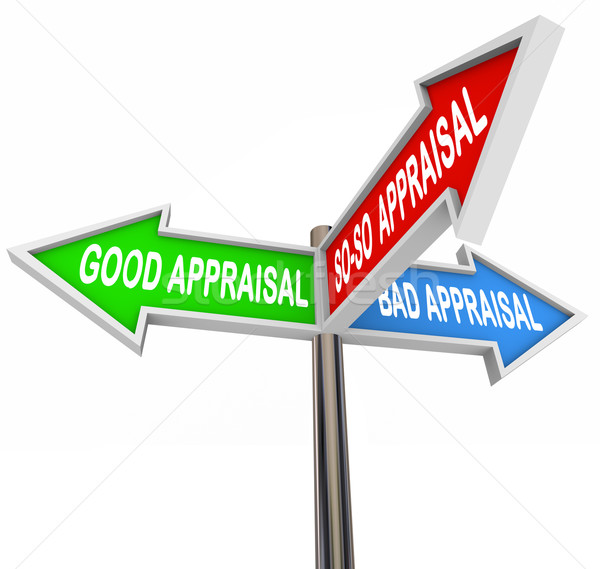Good vs Bad Appraisal Assessment Evaluation Signs Stock photo © iqoncept