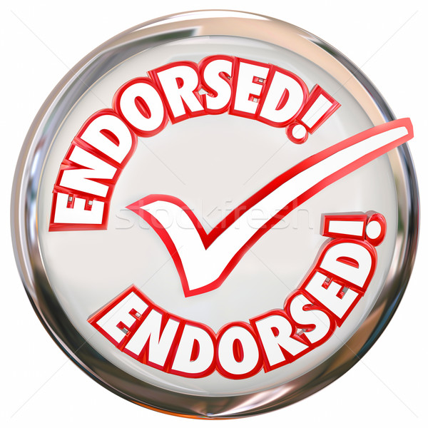 Stock photo: Endorsed Approved Check Mark Round Button Seal