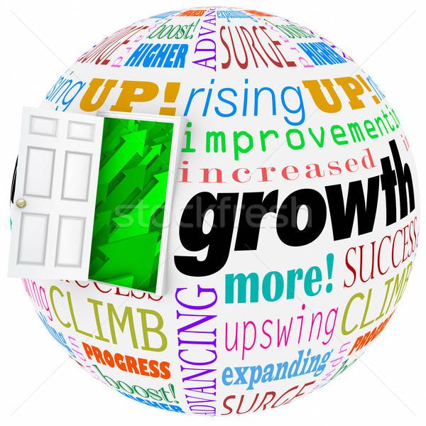 Growth Words Open Door Rising Improving Increasing More Results Stock photo © iqoncept
