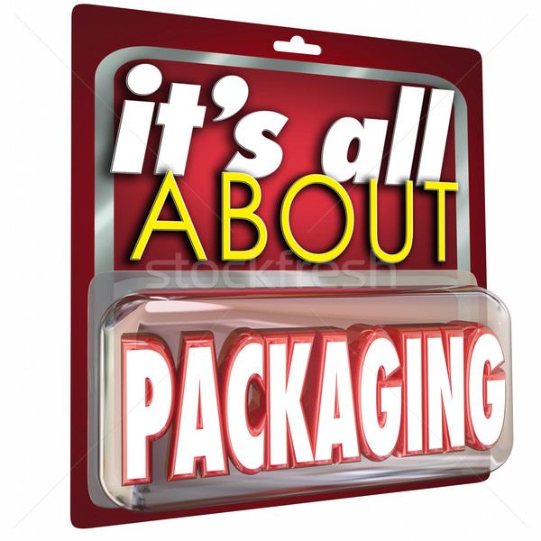 It's All About Packaging Product Marketing Advertising Stock photo © iqoncept