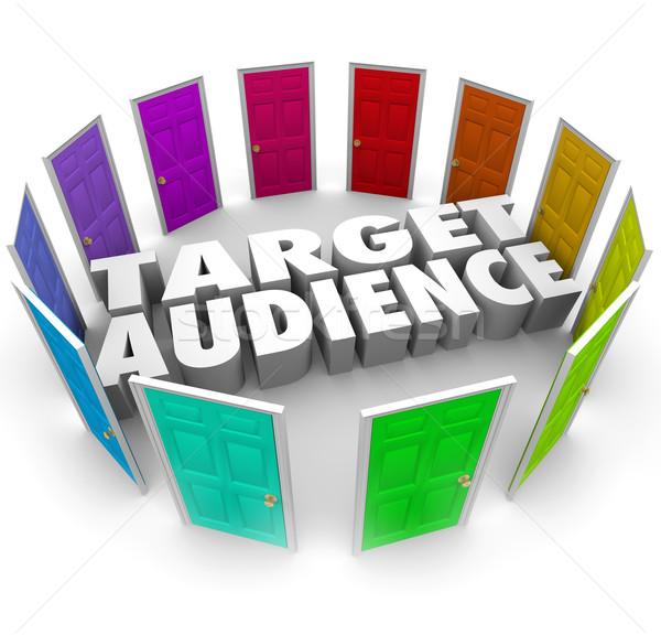 Objetivo audiencia puertas clientes crecer negocios Foto stock © iqoncept