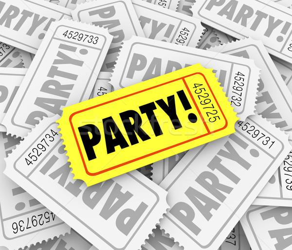 Party biglietti evento speciale celebrazione compleanno anniversario Foto d'archivio © iqoncept
