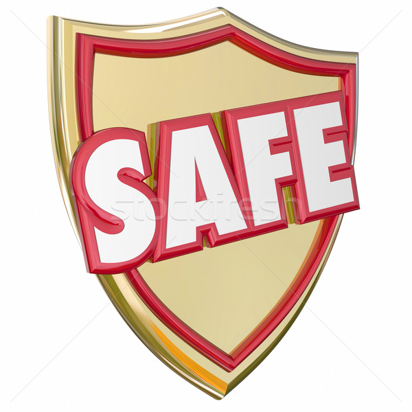 Safe Gold Shield Reduce Risk Avoid Danger Protection Prevention Stock photo © iqoncept