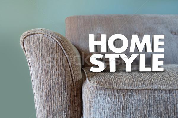 Stok fotoğraf: Ev · stil · kanepe · mobilya · iç · mimari