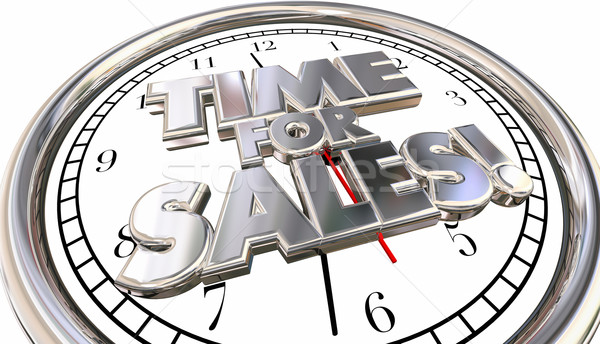 Time for Sales Selling Countdown Deadline Clock Ticking Words Stock photo © iqoncept