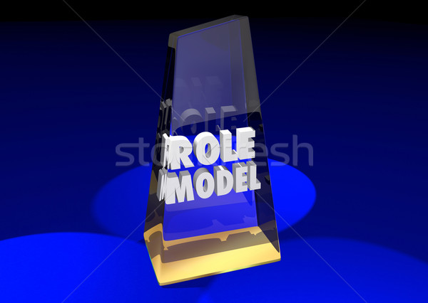 Stock photo: Role Model Example Mentor Award Winner 3d Illustration