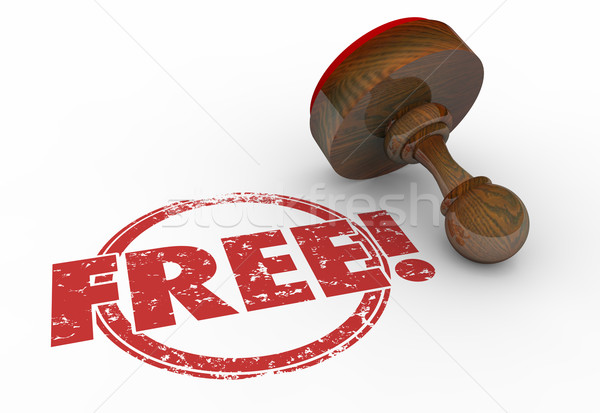 Free Red Round Stamp Word Bonus Content 3d Illustration Stock photo © iqoncept