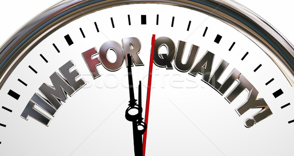 Time for Quality Clock High Value Reputation Words 3d Illustrati Stock photo © iqoncept
