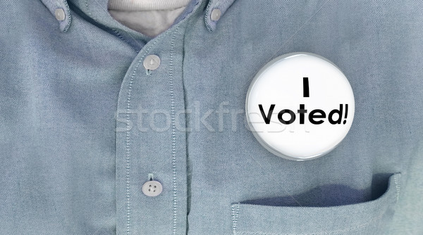 I Voted Button Pin Shirt Election Voter Politics Democracy 3d Il Stock photo © iqoncept