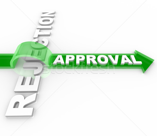 Approval vs Rejection - Arrow Jumps Over Word Stock photo © iqoncept