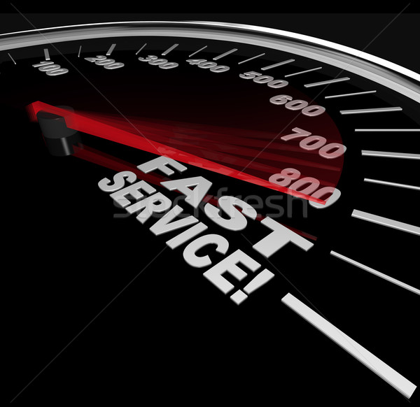 Fast Service - Speedometer of Speedy Customer Support Stock photo © iqoncept
