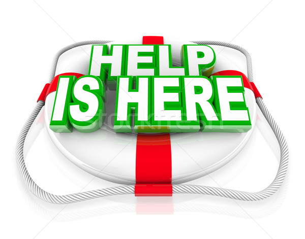 Help is Here Life Preserver Rescue Saving Life Stock photo © iqoncept