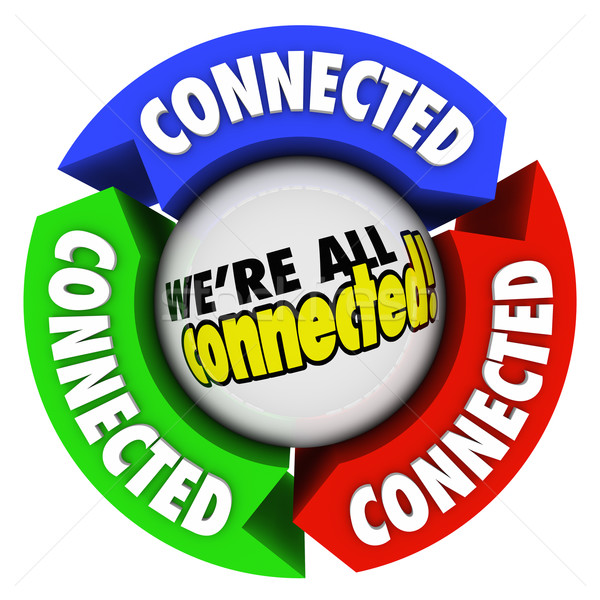 We're All Connected Community Society Arrow Connections Circle Stock photo © iqoncept