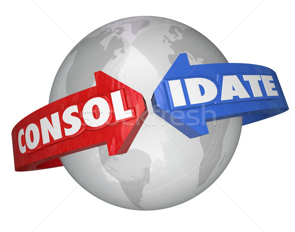 Stock photo: Consolidate International Business Groups Consolidation Global T