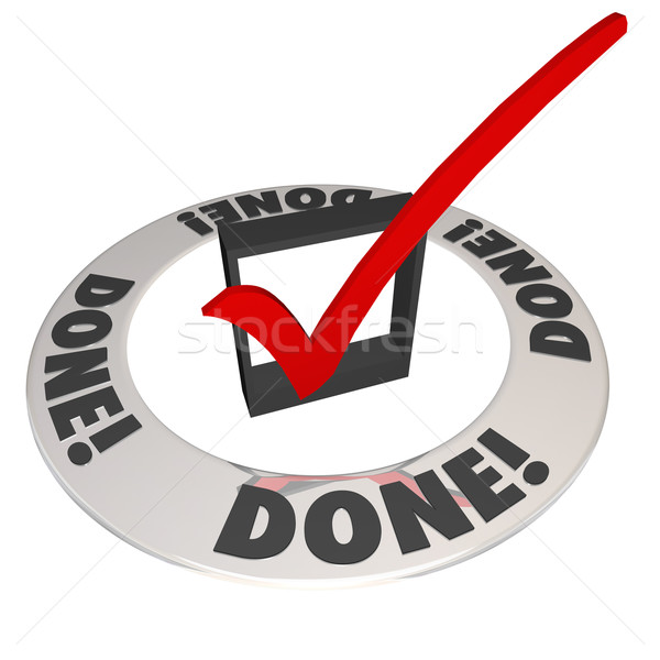 Done Check Mark in Checkbox Mission Job Accomplishment Complete Stock photo © iqoncept