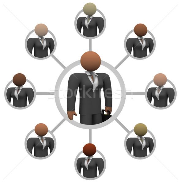 Illustratie netwerk business vrouwen Stockfoto © iqoncept