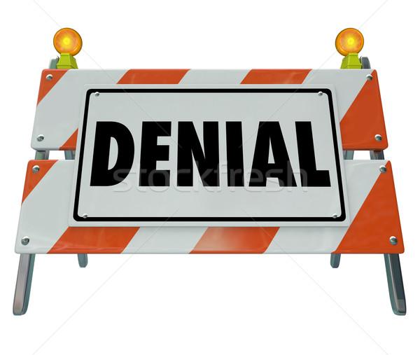 Barricaderen teken afwijzing verboden toegang Stockfoto © iqoncept