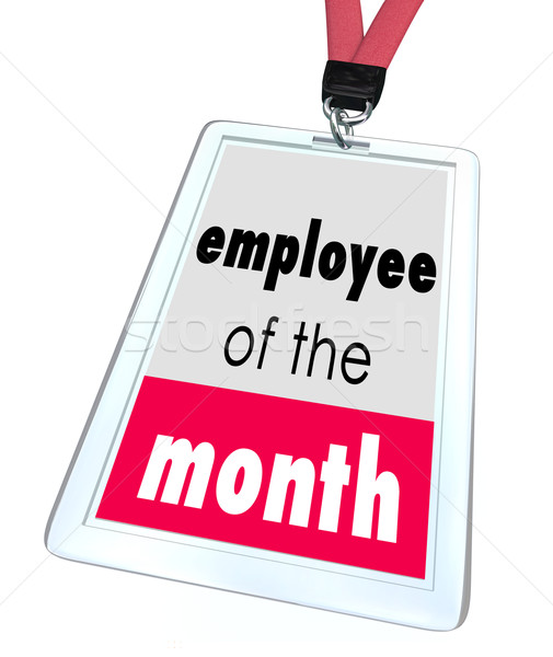 Employee of the Month Badge Name Tag Top Performer Award Stock photo © iqoncept