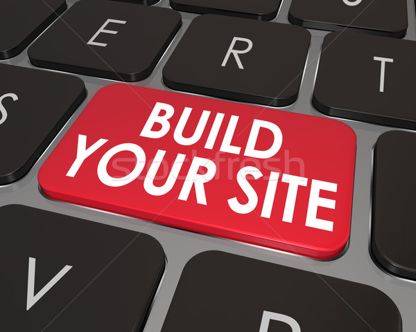 Build Your Web Site Computer Keyboard Button Key Stock photo © iqoncept
