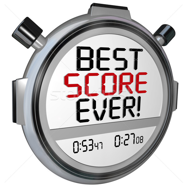 Best partituur timer stopwatch record prestaties Stockfoto © iqoncept