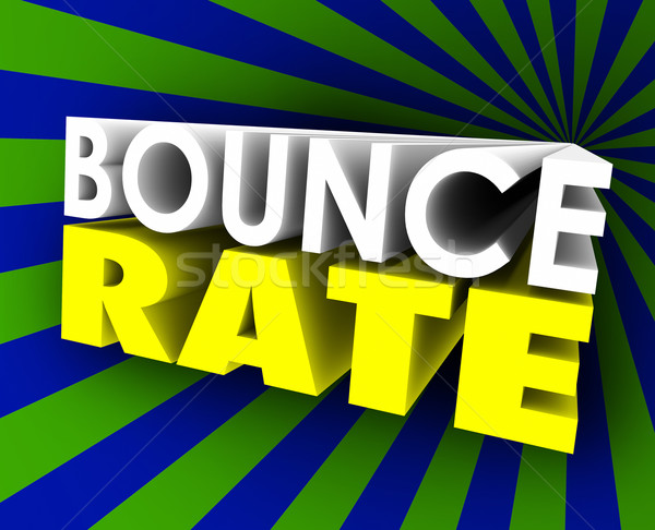 Bounce Rate 3d Words Visitor Audience Retention Internet Web Sit Stock photo © iqoncept