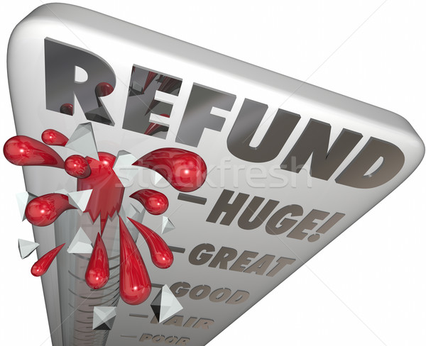 Refund Thermometer Measure Money Back Cash Tax Return Stock photo © iqoncept