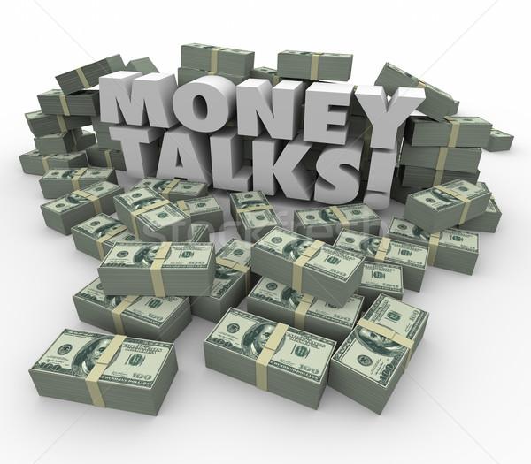 Argent pouvoir influencer financière richesse Photo stock © iqoncept