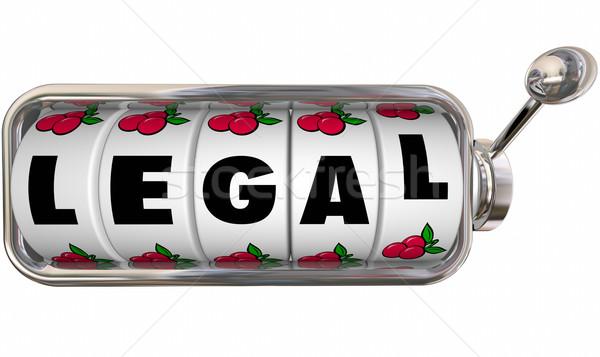 Jogi szó játékautomata kerekek adó törvény Stock fotó © iqoncept