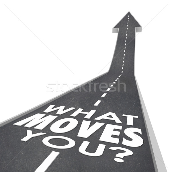 What Moves You Road Arrow Words Inspiration Motivation Success Stock photo © iqoncept