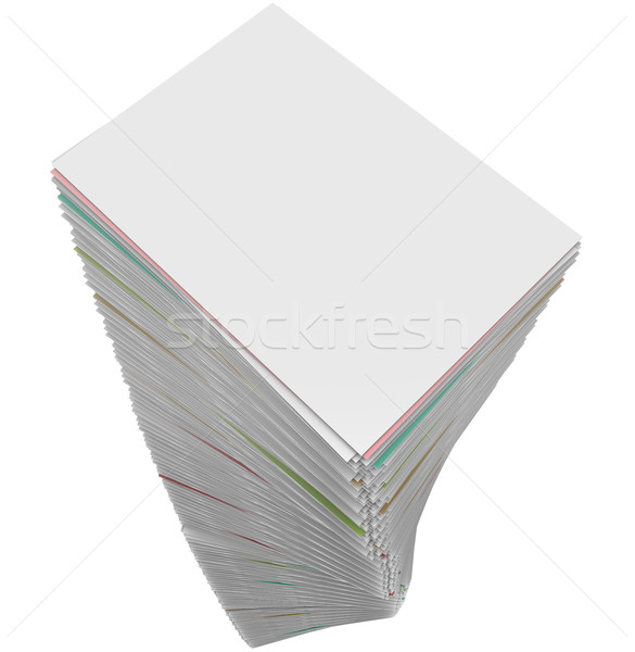 Paperwork Stack Pile Documents Applications Work Task Endless Pr Stock photo © iqoncept