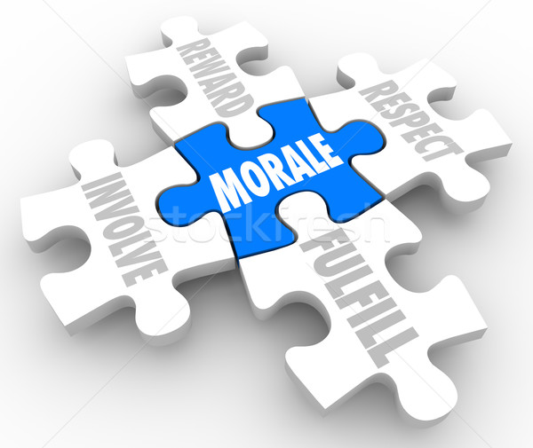 Morale Puzzle PIeces Reward Involve Respect Fulfill Team Spirit  Stock photo © iqoncept