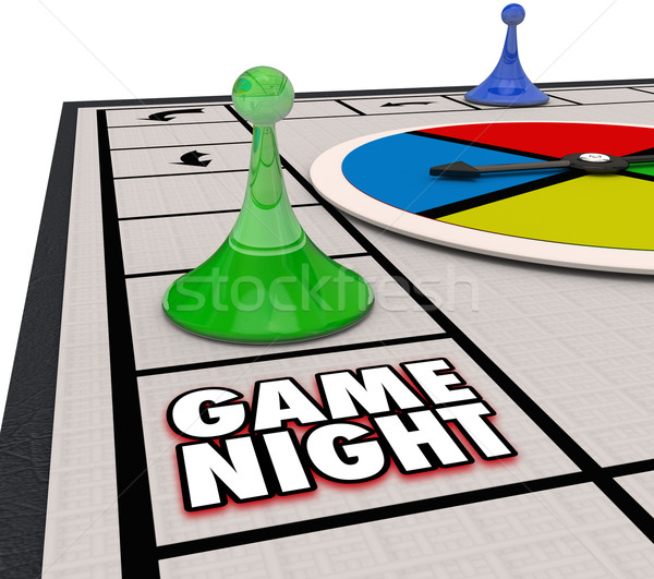 Game Night Family Time Fun Competition Board Pieces Stock photo © iqoncept