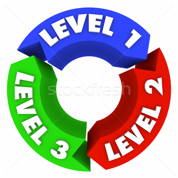Level 1 2 3 Rising Up Top Tier Placement Cycle Stock photo © iqoncept