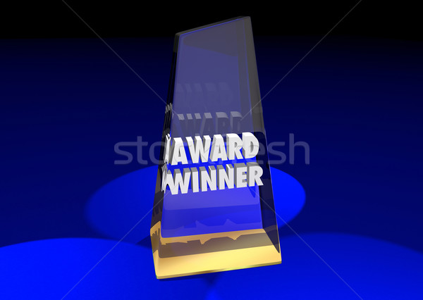 Award Winner Grand Prize Competition Won 3d Illustration Words Stock photo © iqoncept