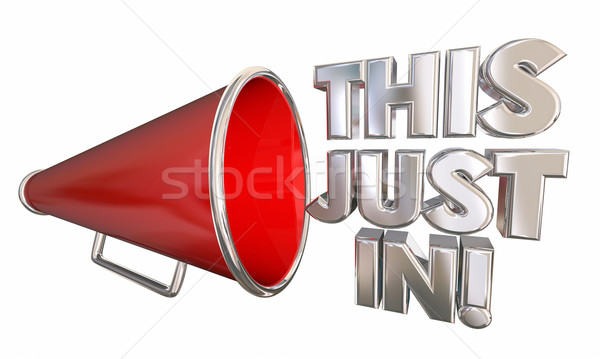 This Just In Bullhorn Megaphone News Update 3d Illustration Stock photo © iqoncept