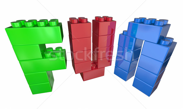 Fun Playing Toy Blocks Letters Word 3d Illustration Stock photo © iqoncept