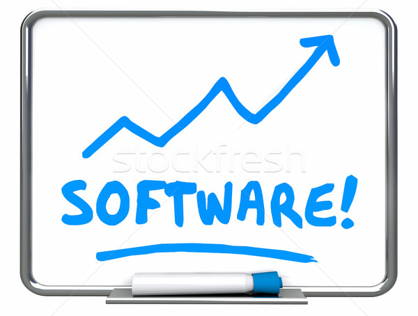 Software apps toepassingen pijl 3d illustration Stockfoto © iqoncept