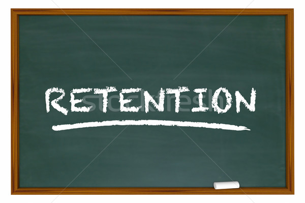 Retention Chalk Board Word Retain Customers Employees 3d Illustr Stock photo © iqoncept