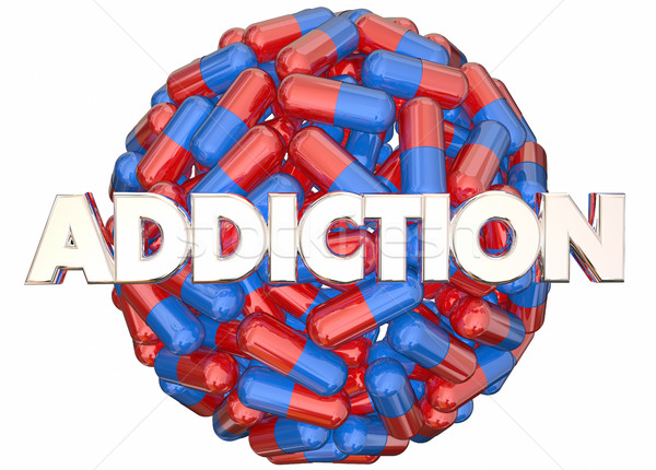 Addiction Pain Killers Prescription Medicine Abuse 3d Illustrati Stock photo © iqoncept