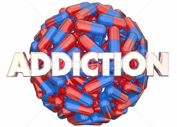Függőség fájdalom vényköteles gyógyszer erőszak 3D 3d illusztráció Stock fotó © iqoncept