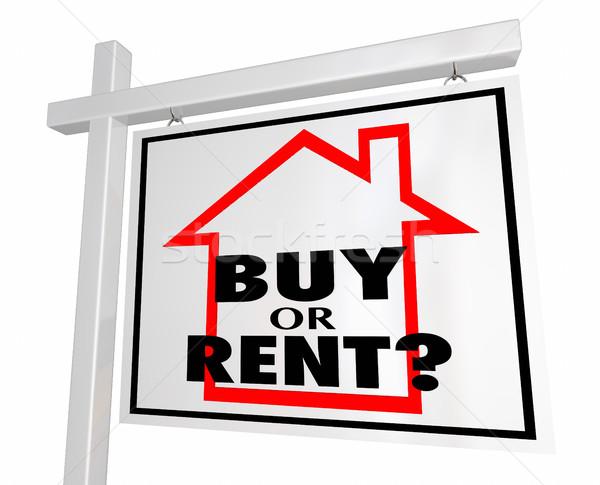 купить аренда дома домой собственности недвижимости Сток-фото © iqoncept