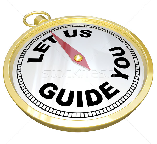 Compass - Let Us Guide You Support and Service Stock photo © iqoncept