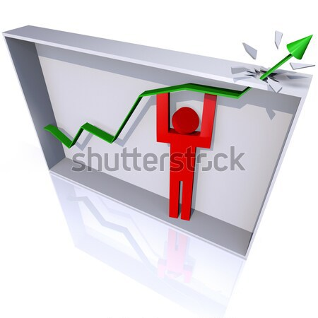 Team Lifting Arrow Over Walls of Maze Stock photo © iqoncept