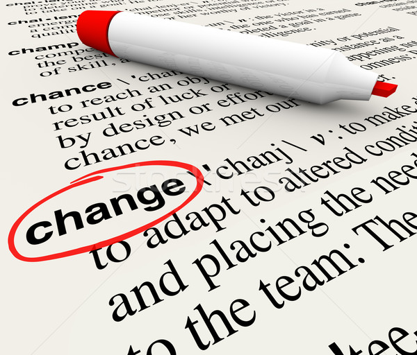 Change Dictionary Definition Word Adapt Evolve Stock photo © iqoncept