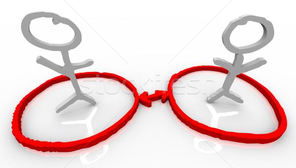 Deux personnes communication réseau deux Photo stock © iqoncept