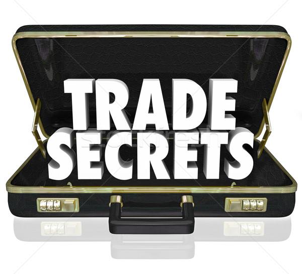 échanges secrets serviette affaires informations mots Photo stock © iqoncept