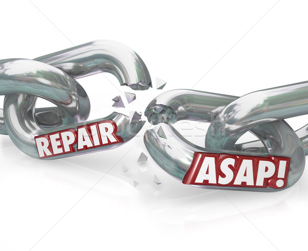 Repair ASAP Breaking Chain Links  Stock photo © iqoncept