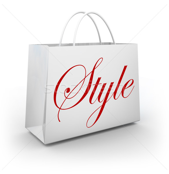 Style Shopping Bag Store Buying Trends Stylish Design Stock photo © iqoncept